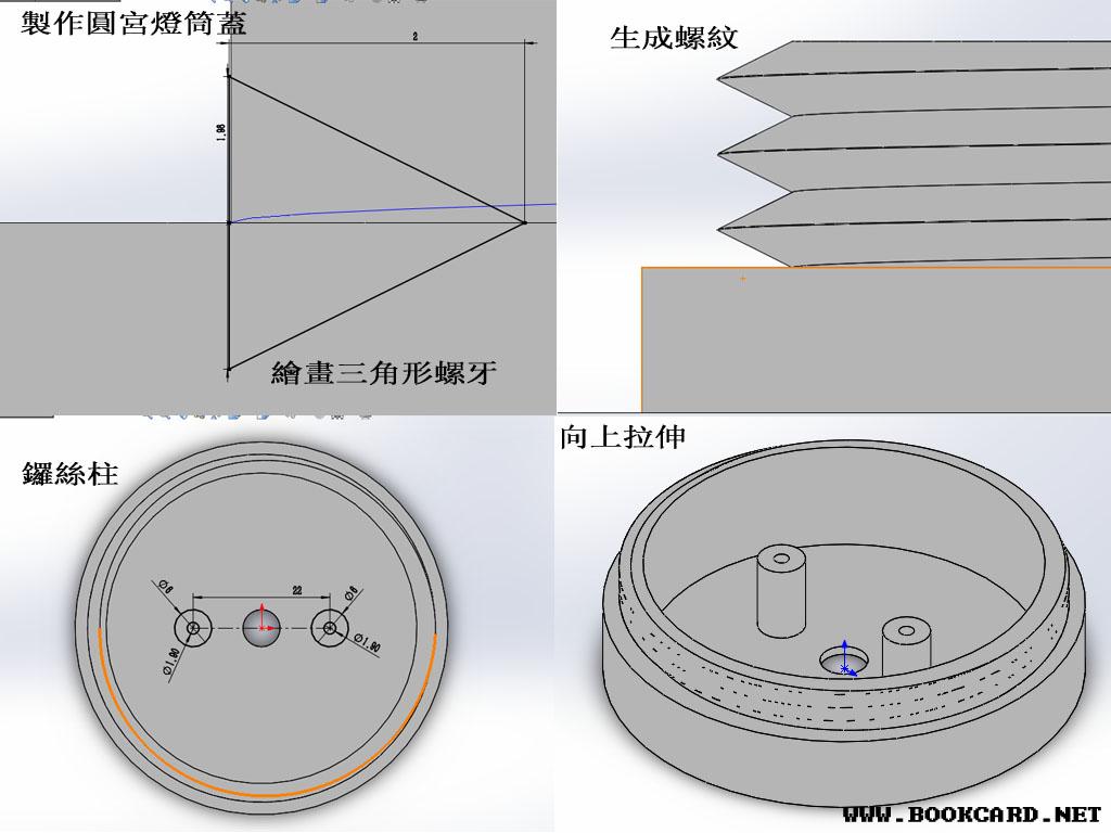 製作圓宮燈筒蓋