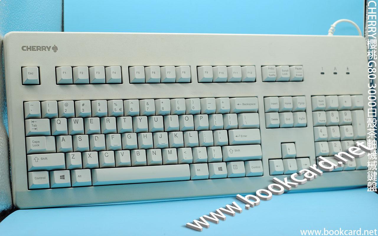 CHERRY櫻桃G80-3000白殼茶軸機械鍵盤