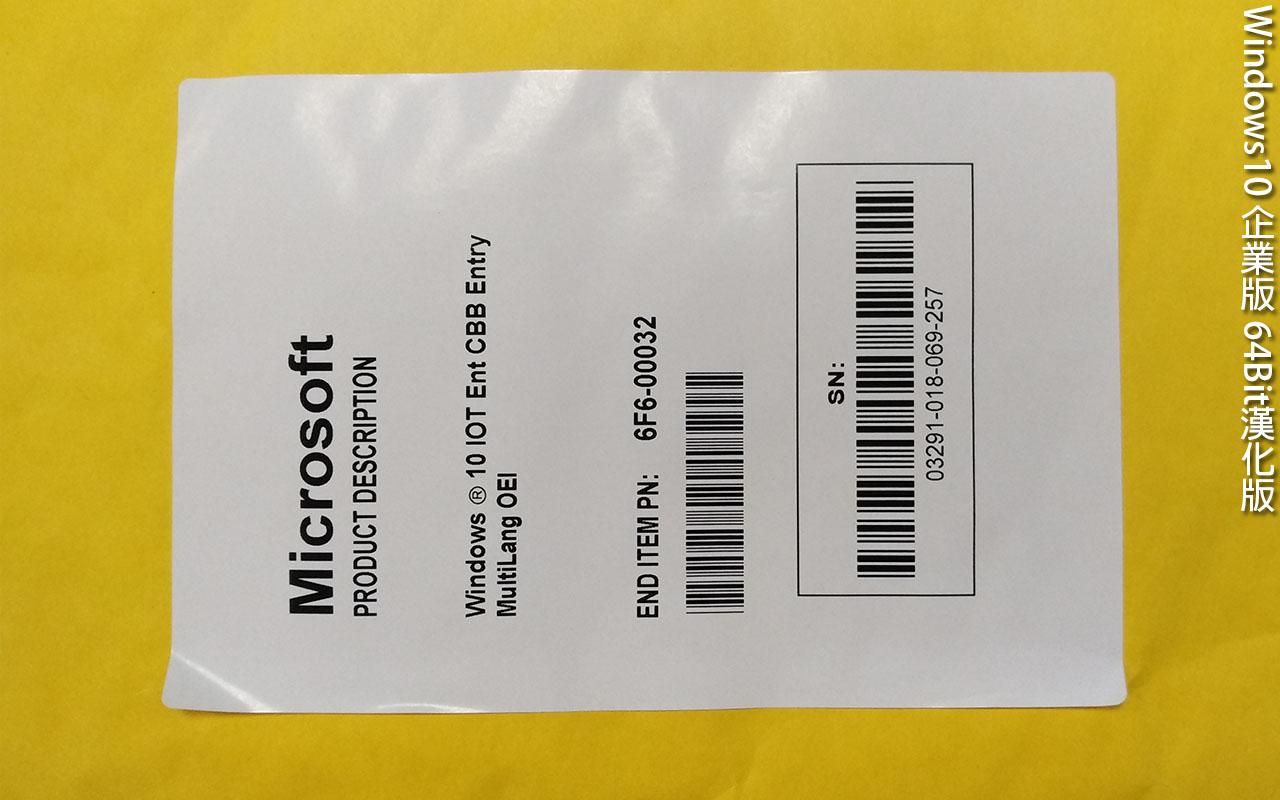 Windows10 企業版 64Bit漢化版