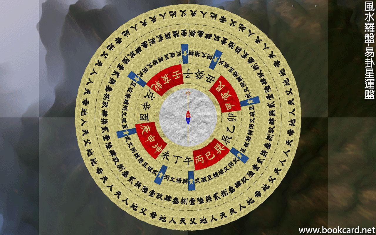 風水羅盤-易卦星運盤